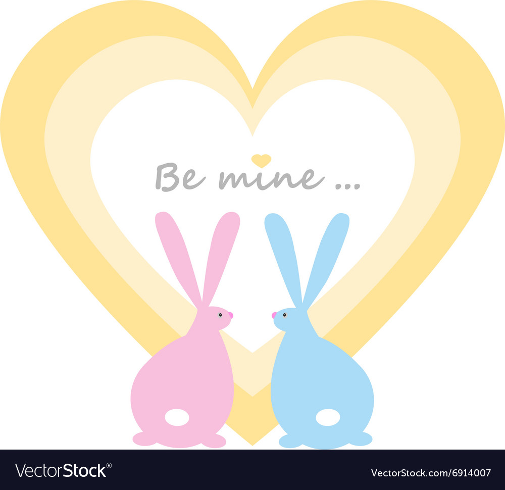 Rabbits in the heart vector