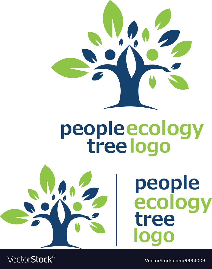 People ecology tree logo 2 vector
