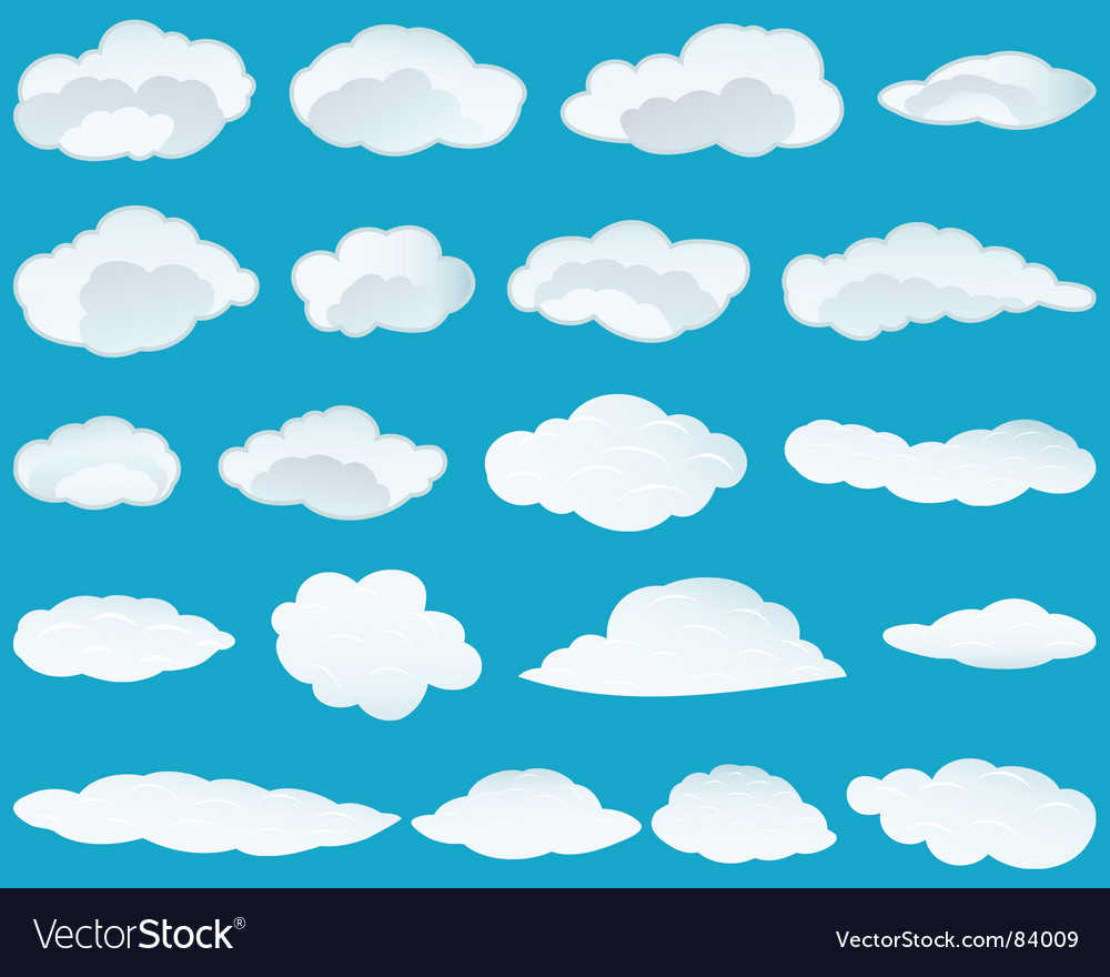 Set of clouds vector