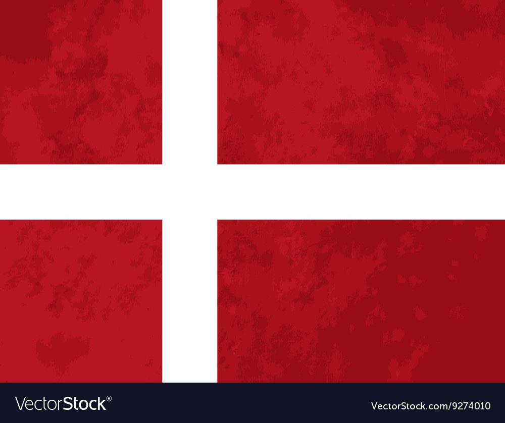 True proportions denmark flag with texture vector