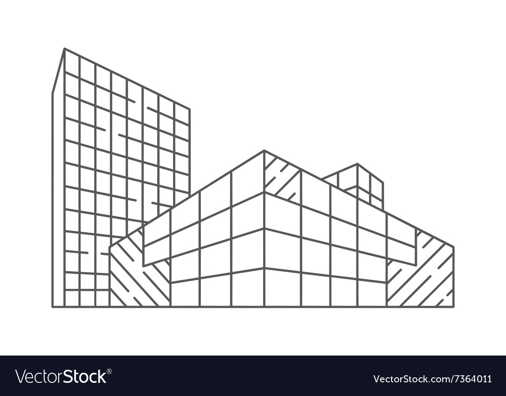 Architecture in linear style vector