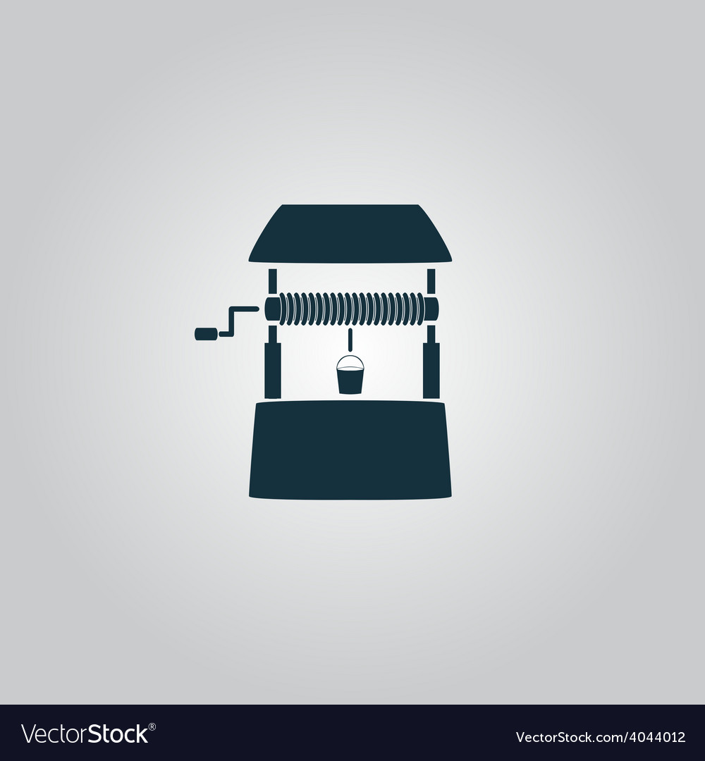 Water well flat vector