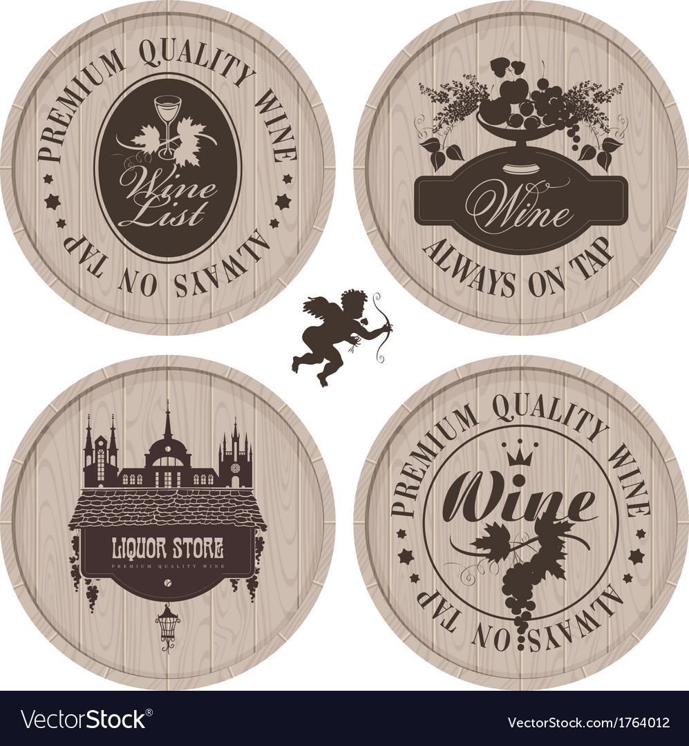 Wine casks vector