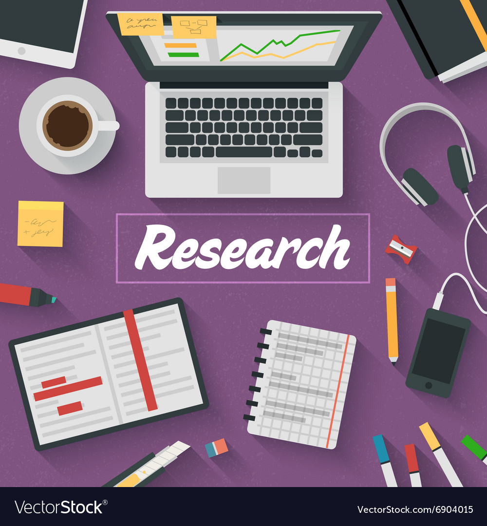 Trendy flat design research vector