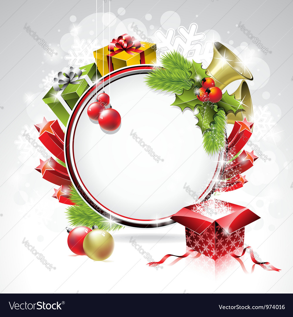 On a christmas theme with gift box vector