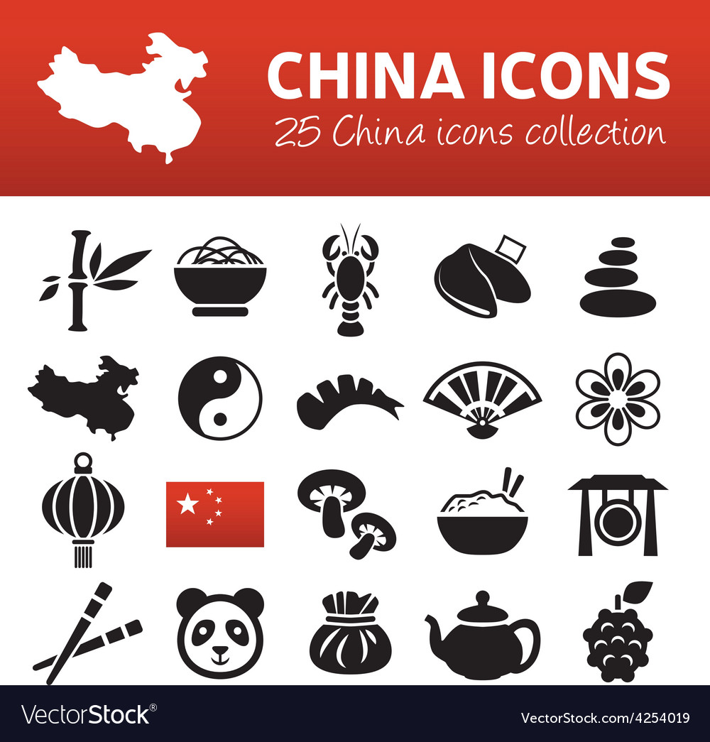 China icons vector