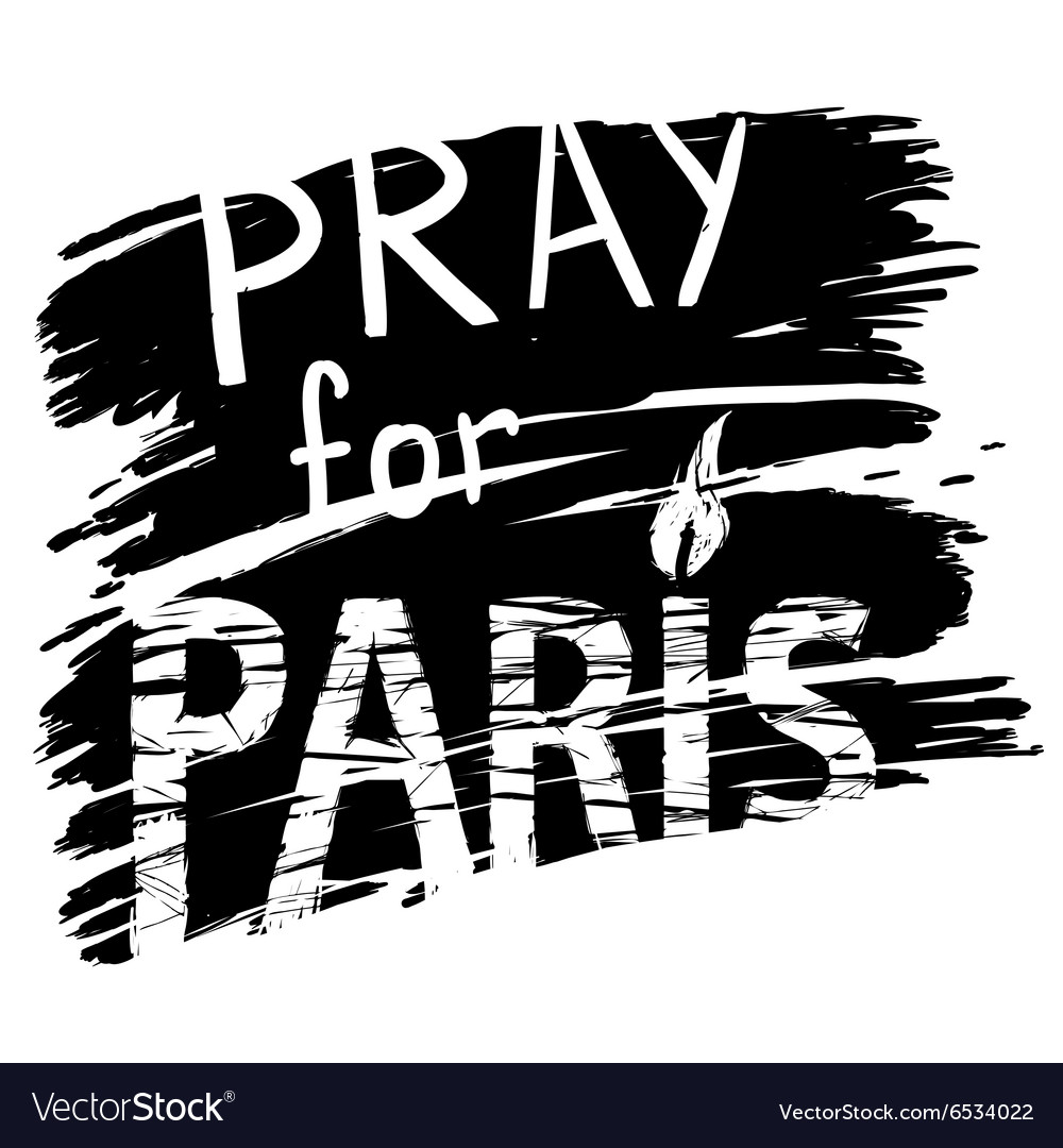 Paris and candle for a prayer vector
