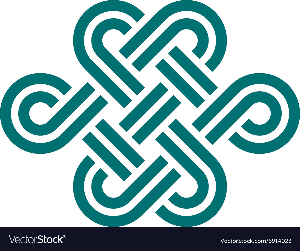 Infinite knot symbol on white vector