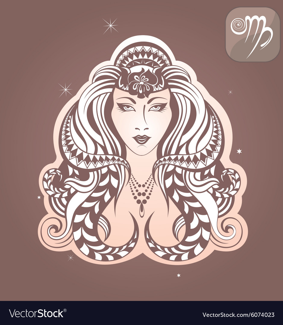 Virgo zodiac sign vector