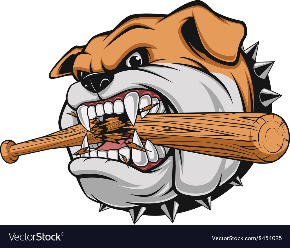 A fierce bulldog vector