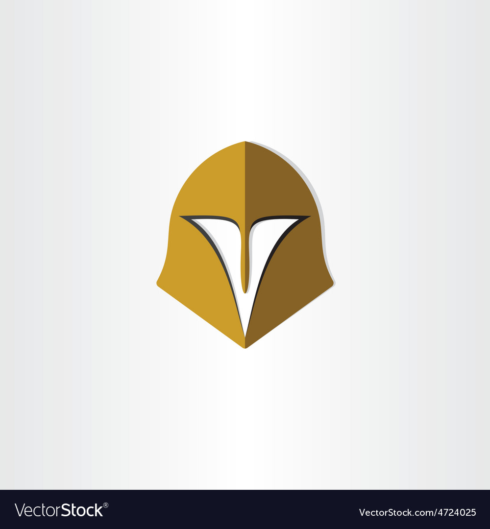 Gladiator helmet cap icon vector