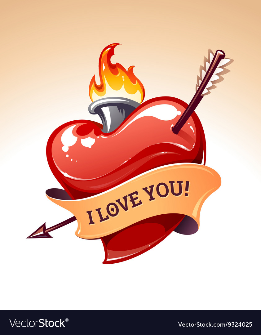 Heart art vector