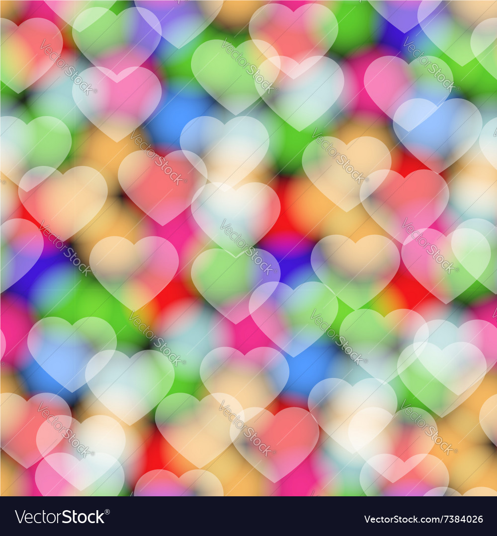Colors hearts seamless pattern vector
