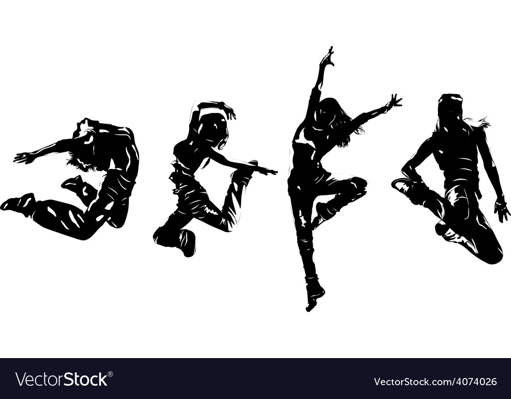 Women dancers vector