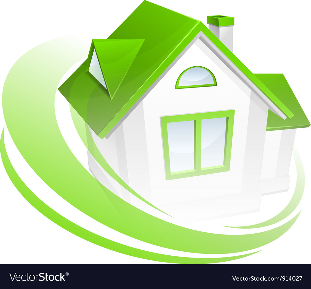 Abstract green house 10 vector