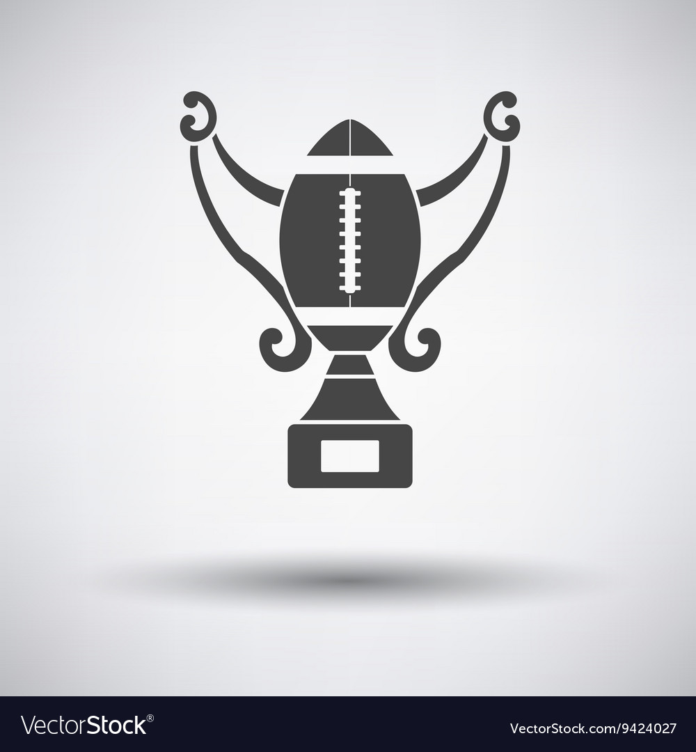 American football trophy cup icon vector