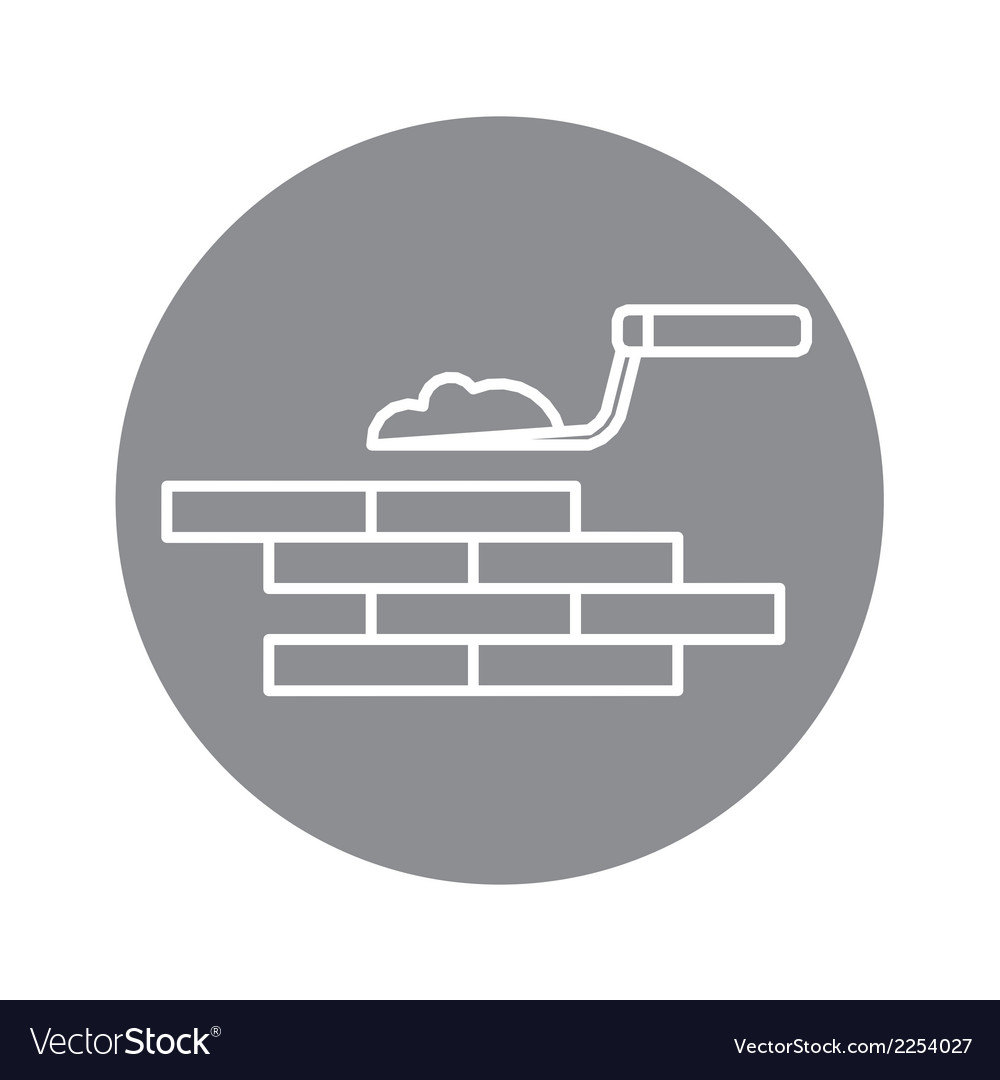 Building brick wall vector
