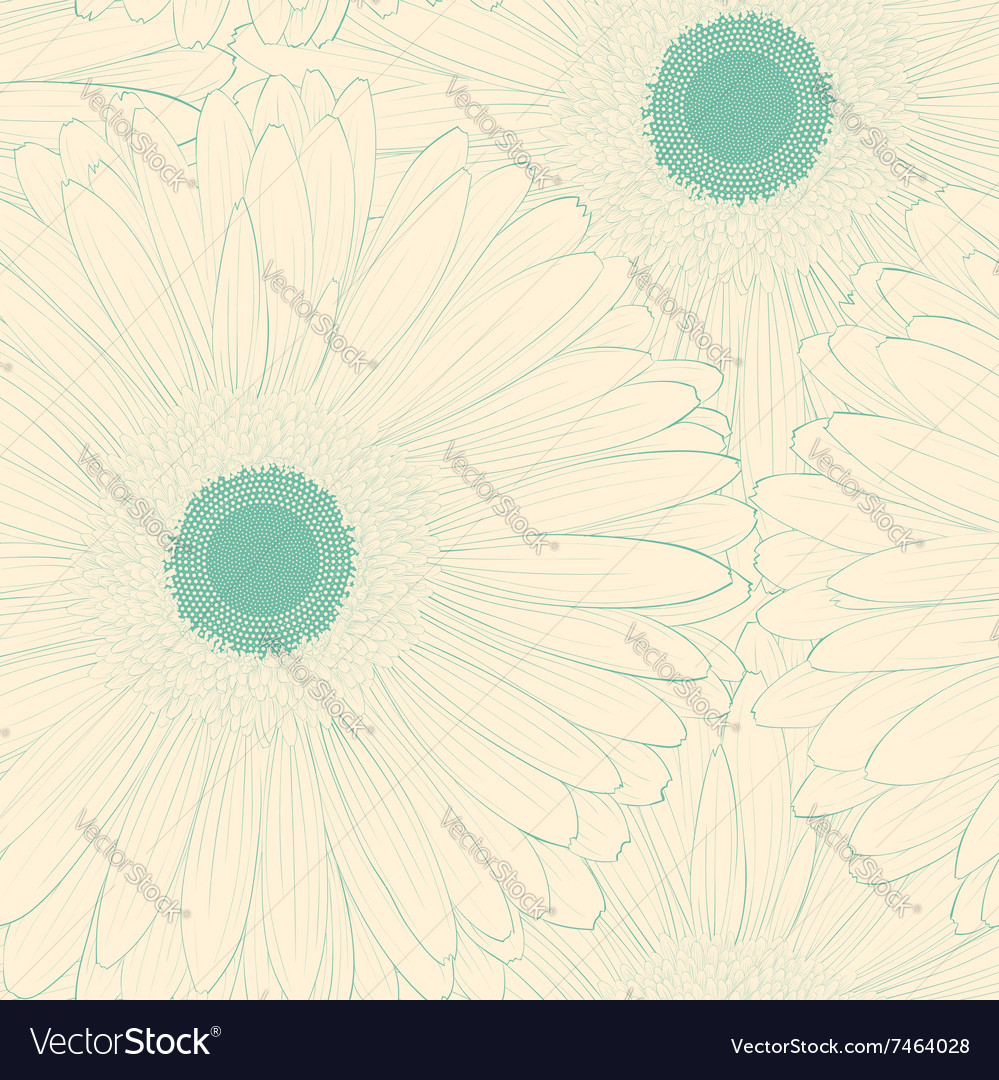 Background with gerbera flower vector