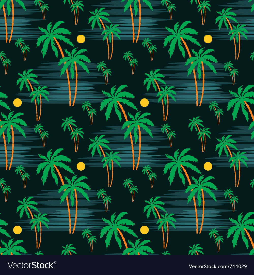 Seamless palm pattern vector