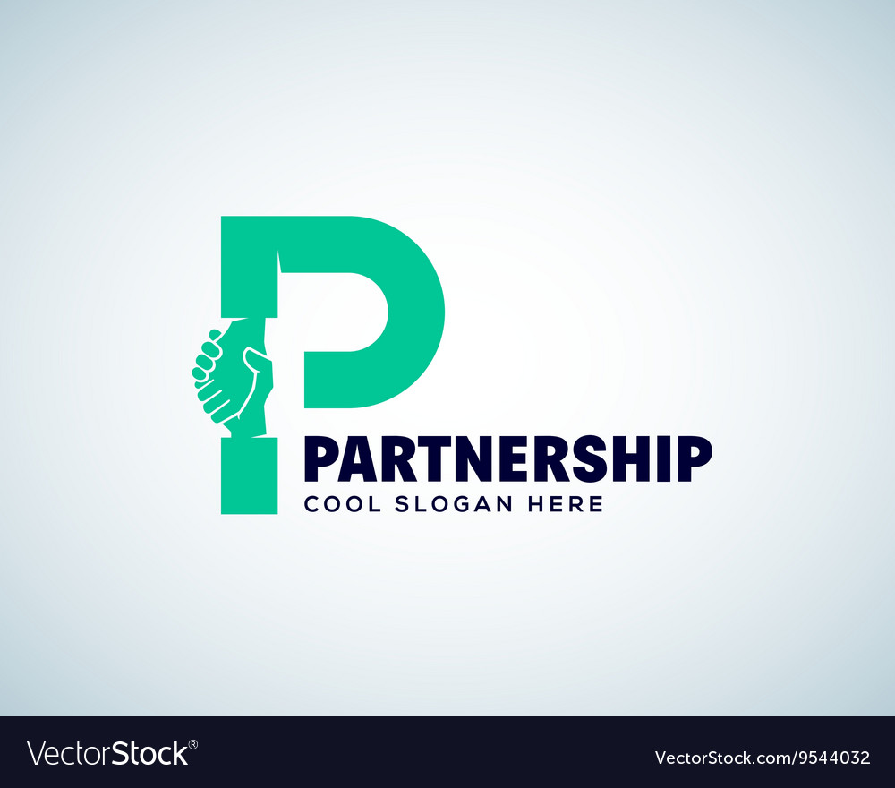 Partnership abstract logo template hand vector