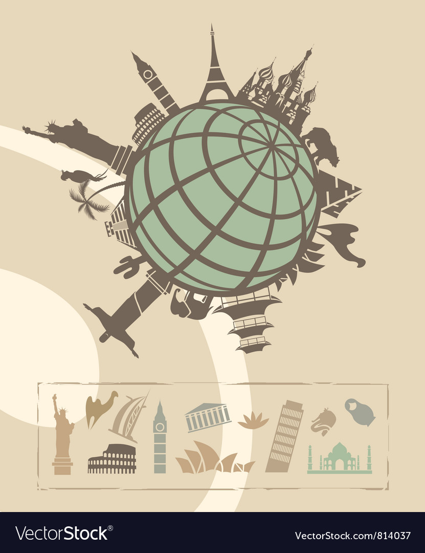 Landmarks around the world vector