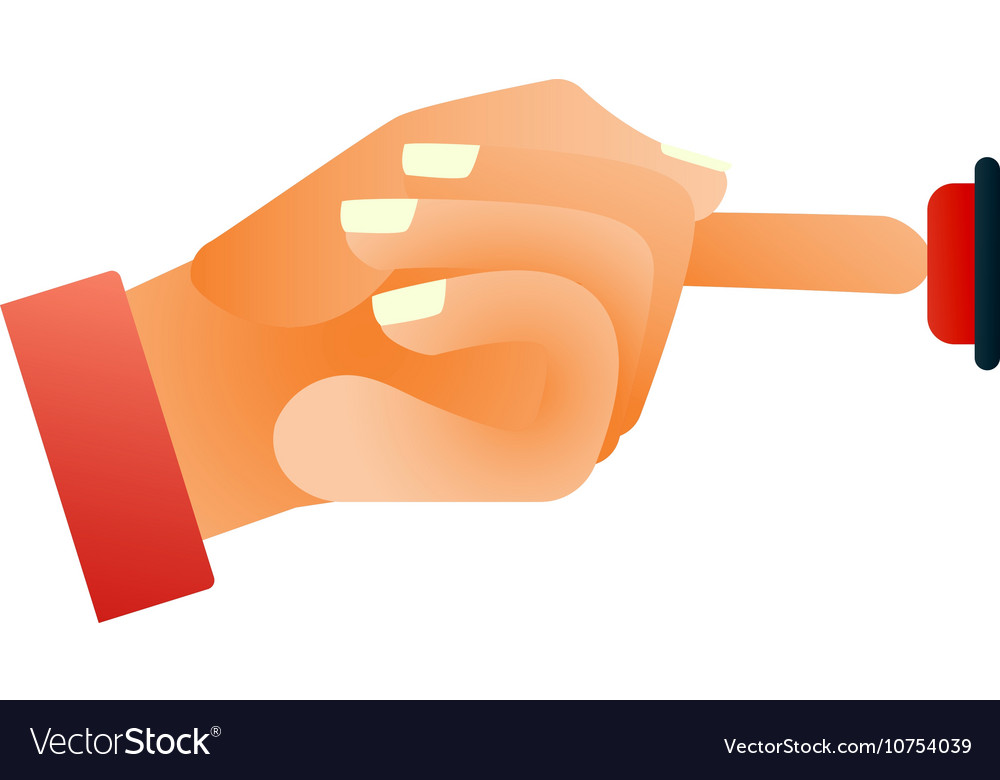 Hands push buttons vector