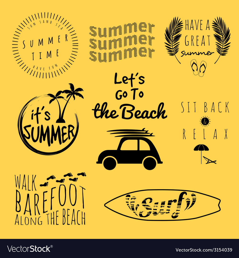 Summer set vector