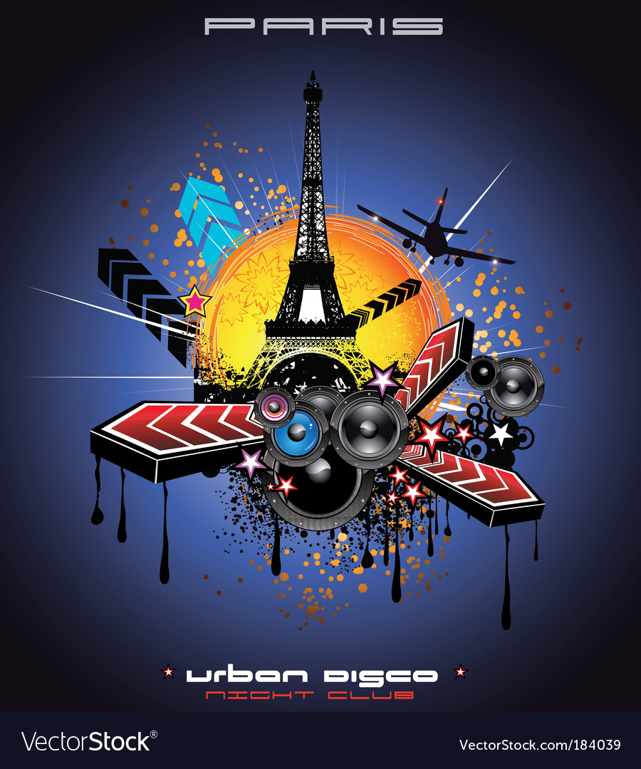 Urban style paris background vector