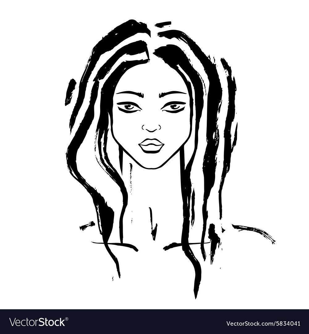 Beautiful woman portrait vector