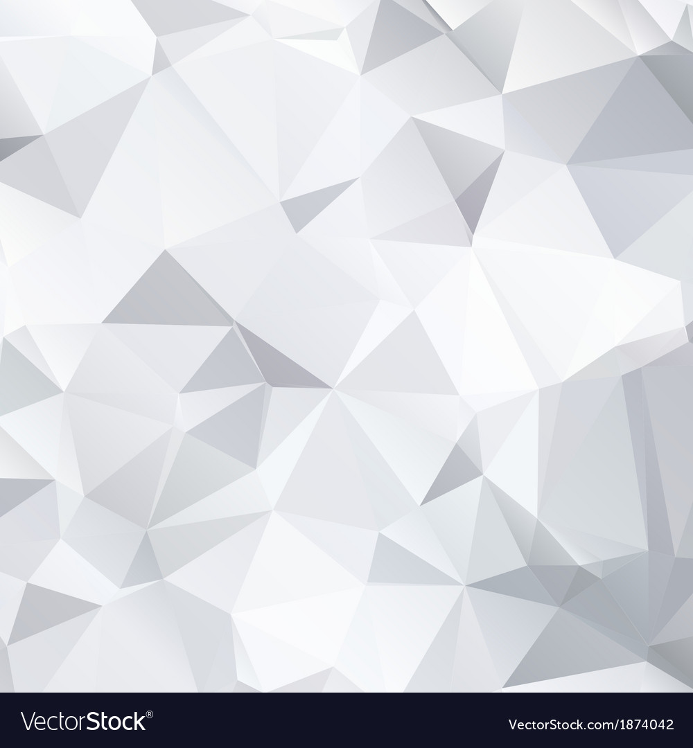 Abstract black and white background of polygonal vector