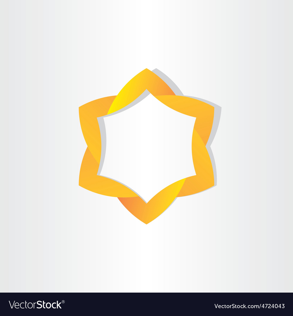 Yellow star symbol design vector