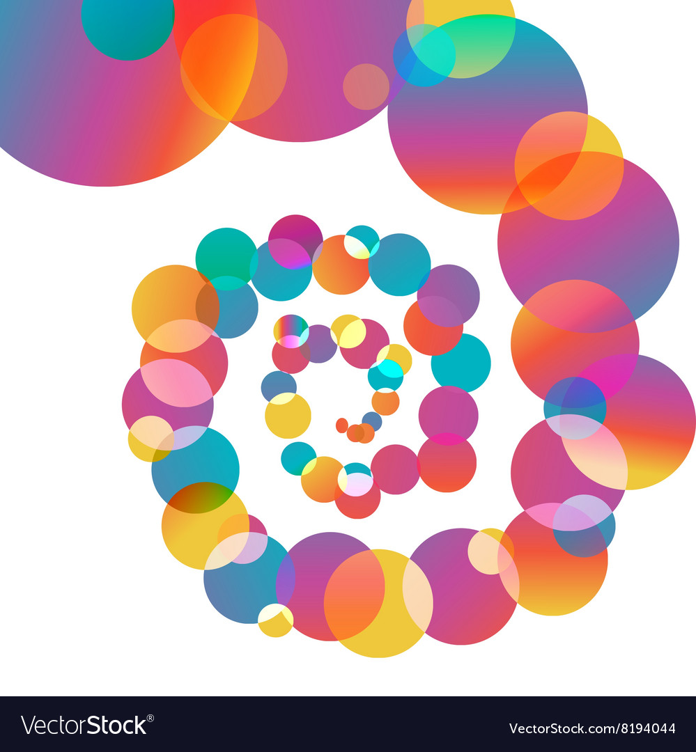 Colored spiral balls vector