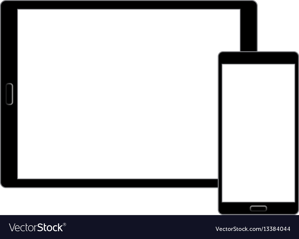 Responsive design laptop tablet and smartphone vector