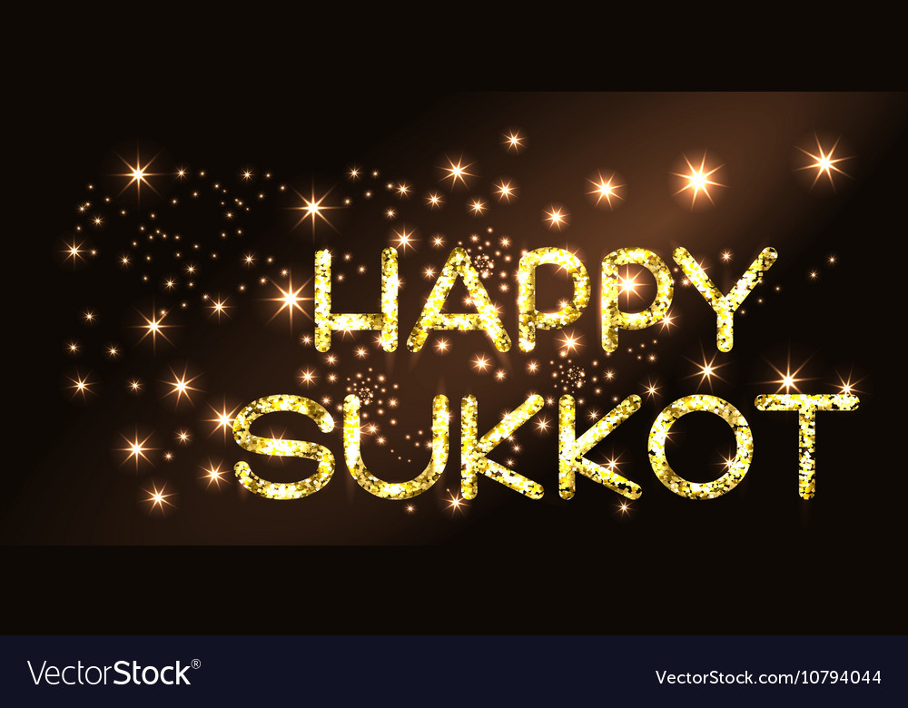 Sukkot greeting card vector