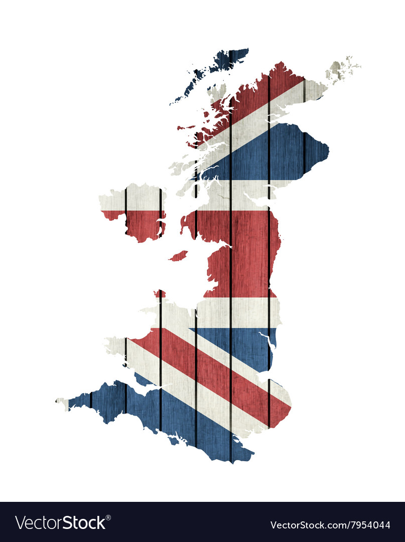 United kingdom map vector
