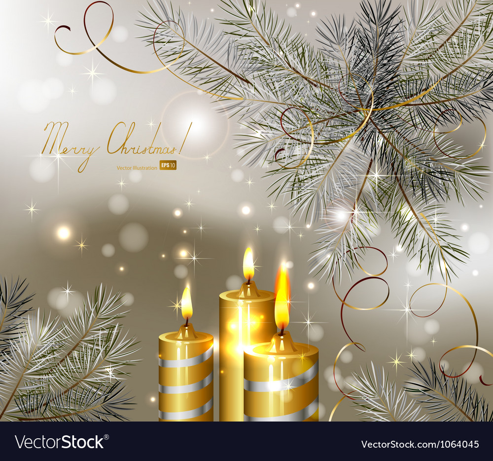 Light christmas background vector