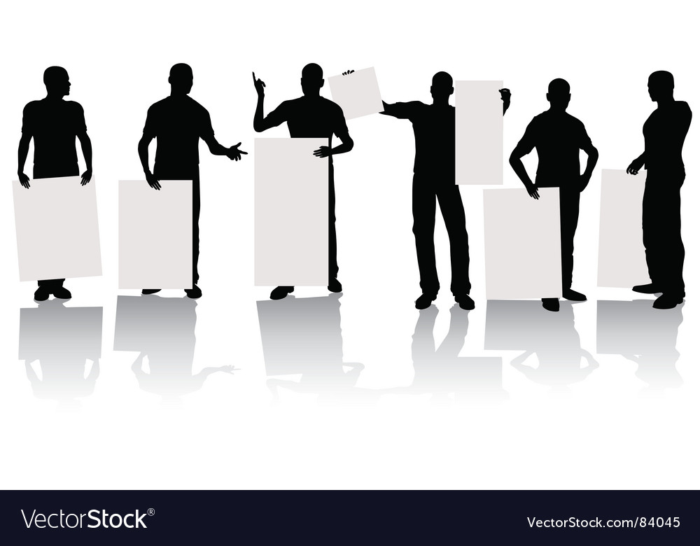 Man with sign vector