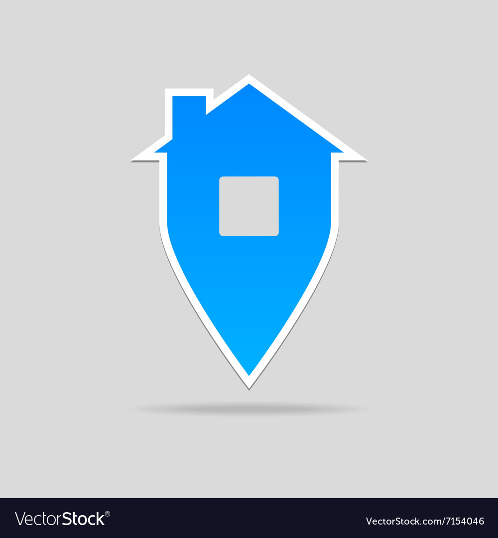Home point sign vector