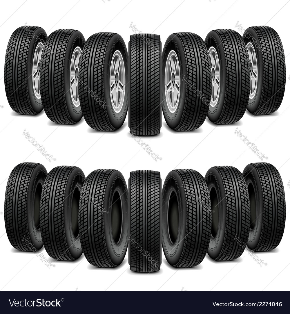 Wedge of tires vector