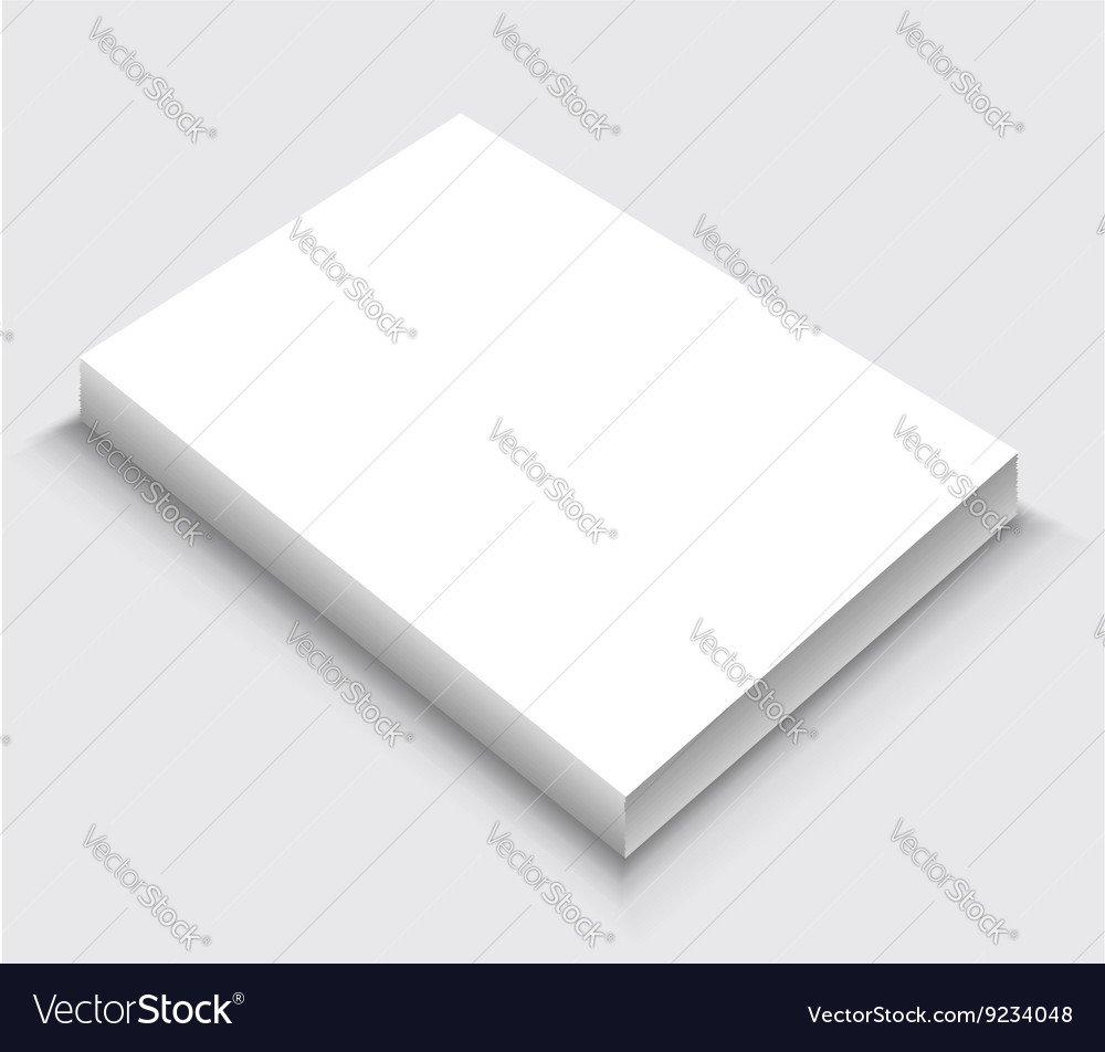 A4 paper stack vector