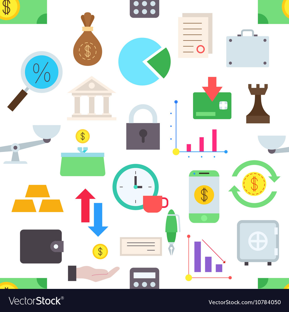 Banking pattern stickers vector