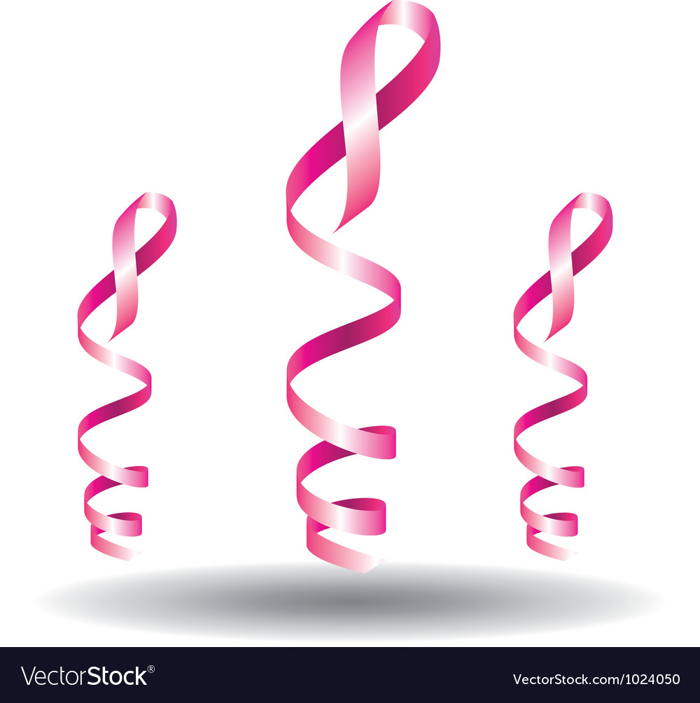Breast cancer pink ribbon awareness vector
