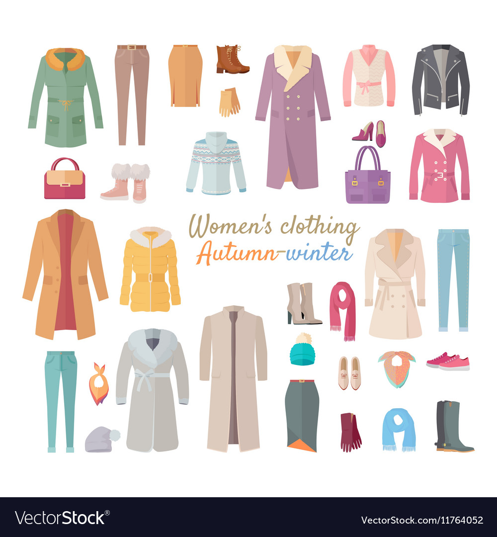 Women s clothing autumn winter collection vector