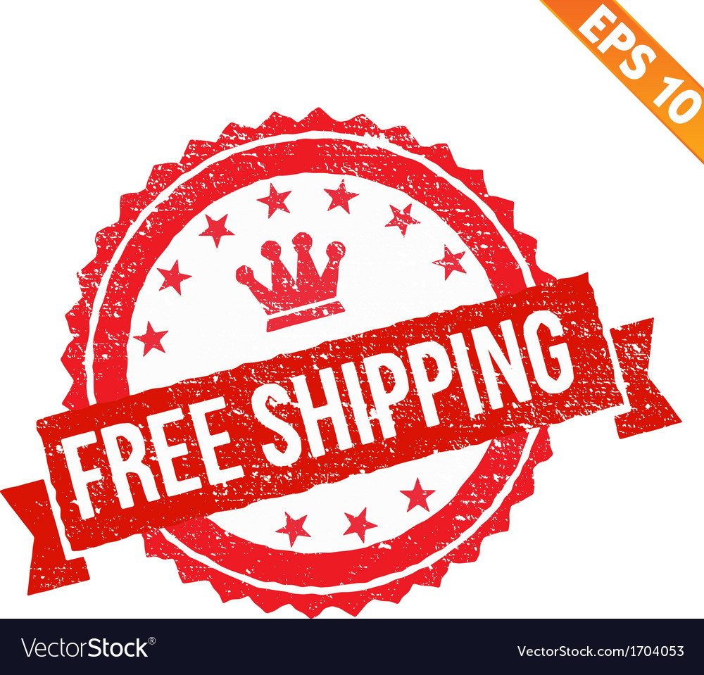 Rubber stamp free shipping   eps10 vector