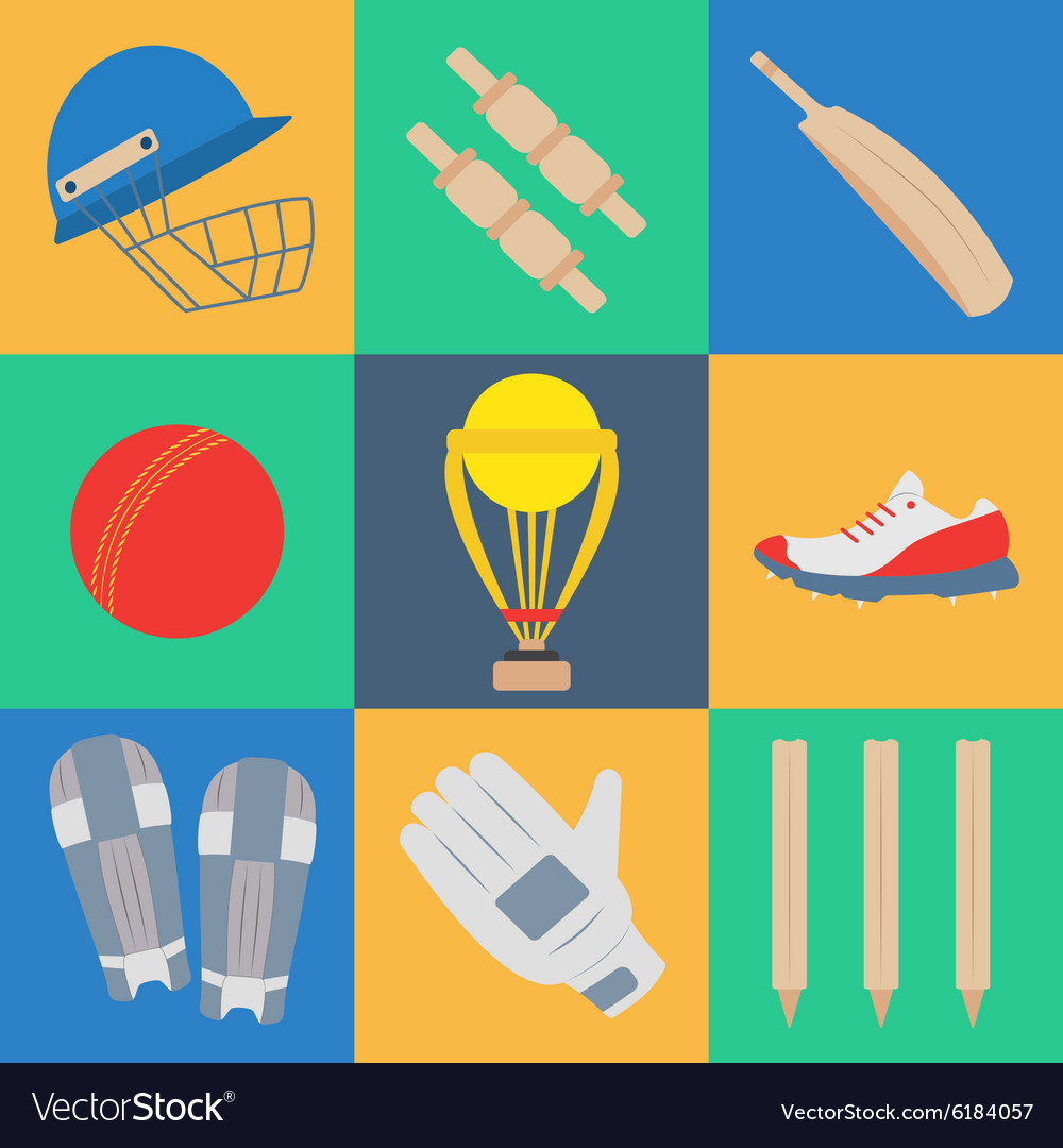 Cricket game concept vector