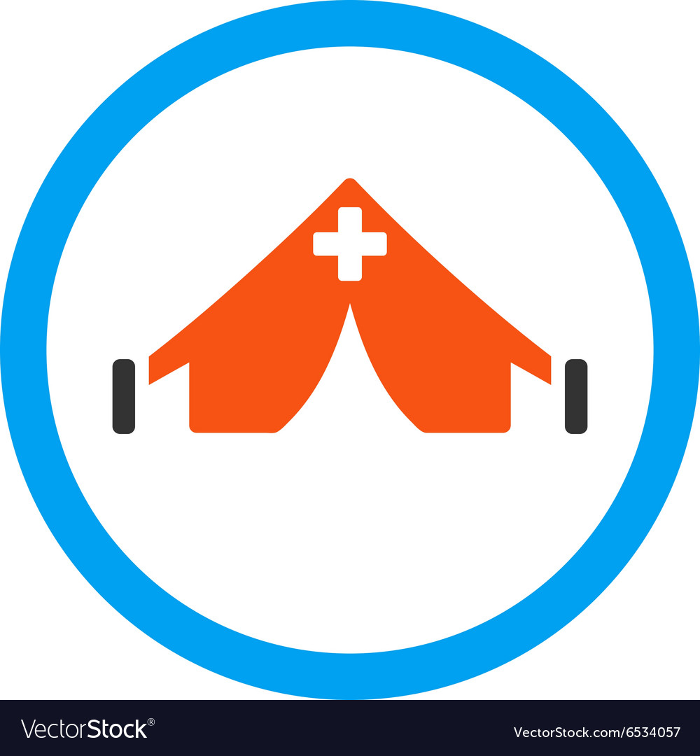 Field hospital icon vector
