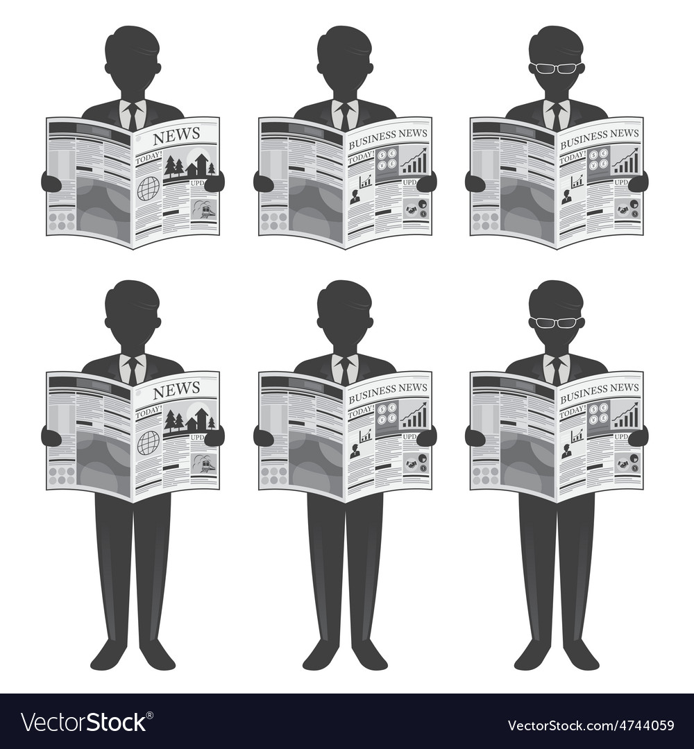 Businessman read newspaper vector