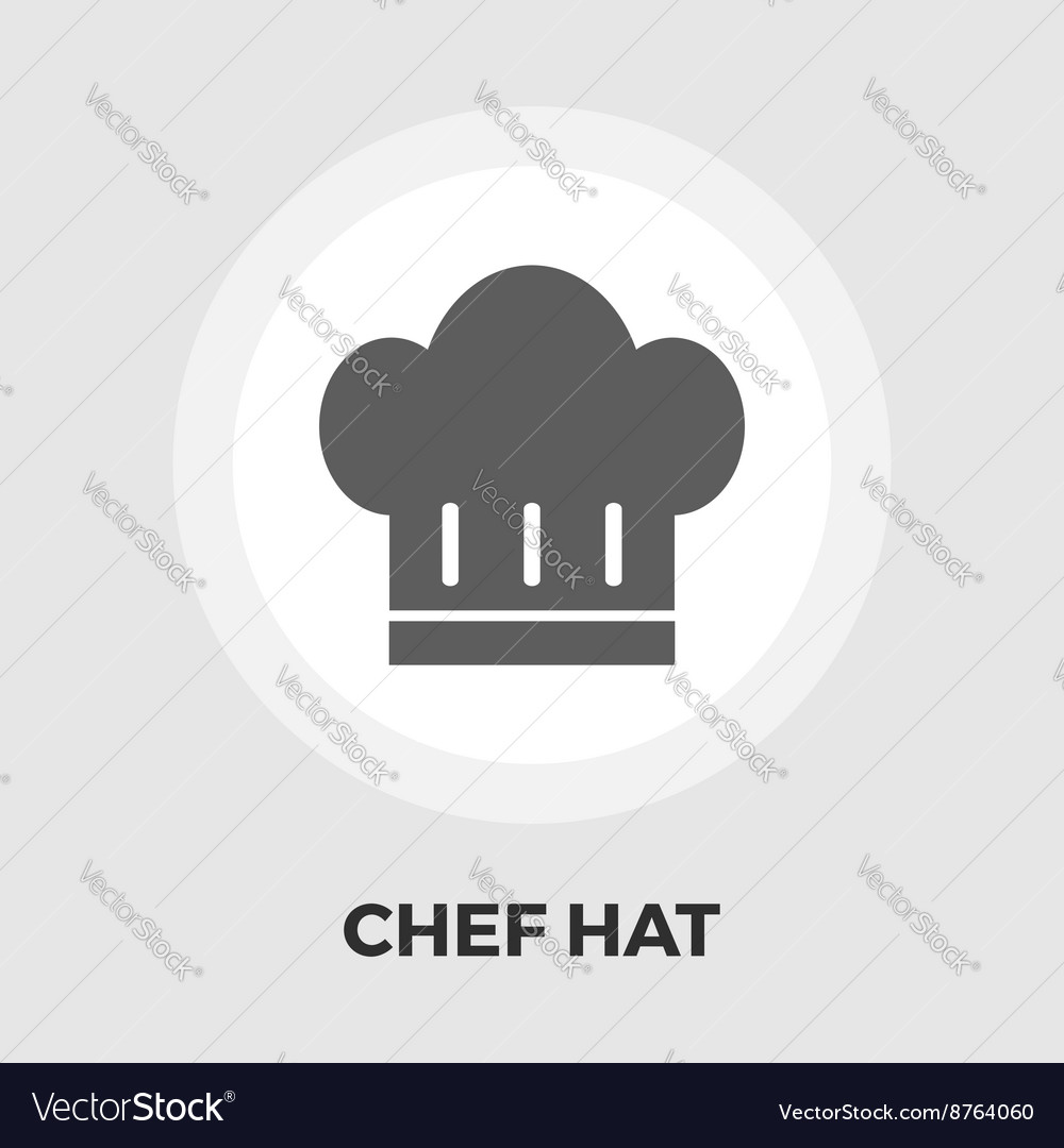 Chef hat flat icon vector