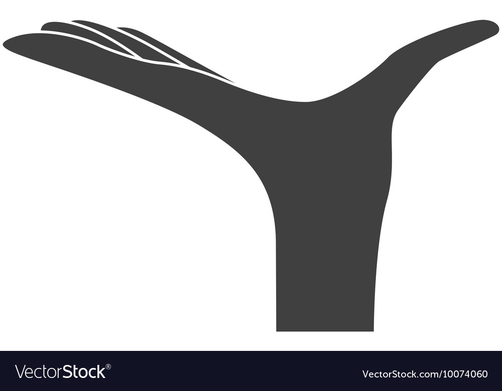 Hand waiter restaurant icon vector