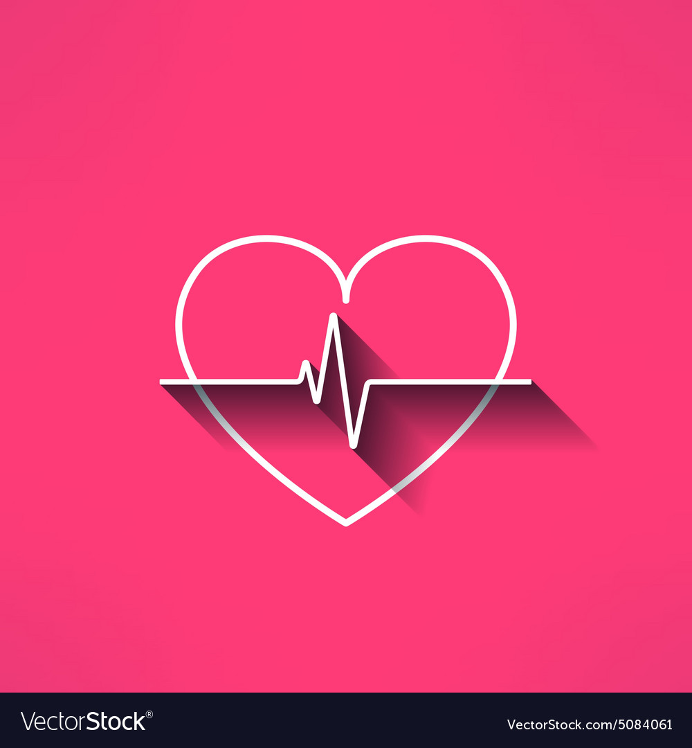Heartbeat medical sign made in modern flat vector